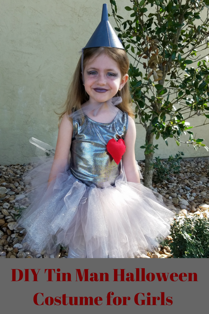 This DIY Tin Man for Girls costume is perfect, adorable and easy to make.