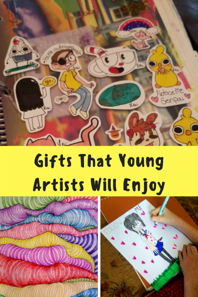 Young artists need a wide variety of art supplies so that they can express themselves through their art.