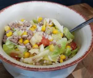 Turkey and Vegetable Cabbage Bowl