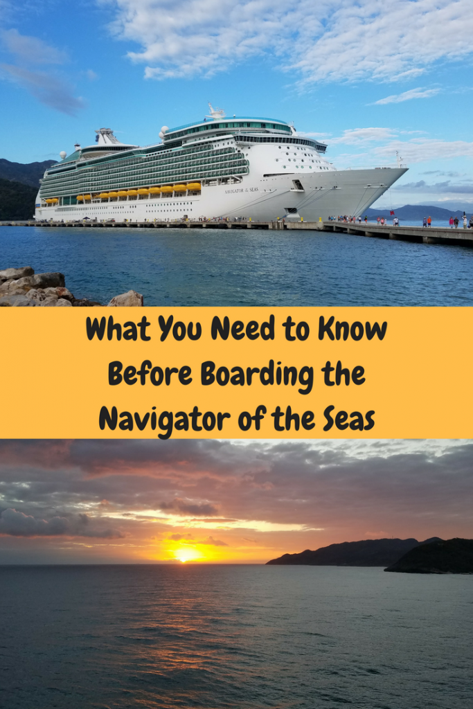 This was our first trip on Royal Caribbeans Navigator of the Seas. Here is some helpful information that my family wanted to share with other cruisers.