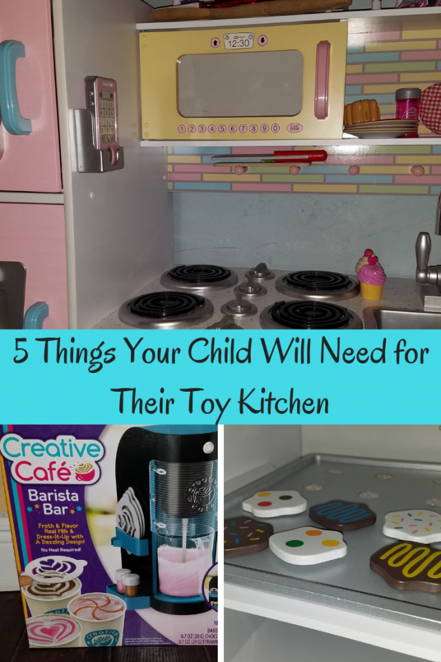 Every playroom should have a toy kitchen. Here are 5 things your child needs for their toy kitchen.
