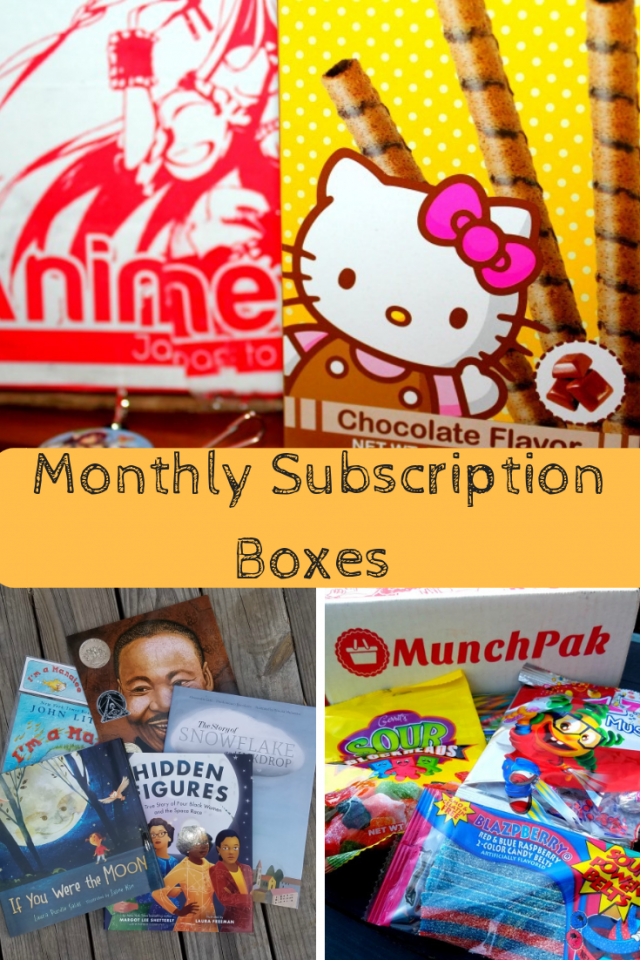 There are a lot of monthly subscription boxes. Over the years my family has subscribed to a few, so I wanted to put together a list of some of our favorite monthly subscription boxes and some that we would like to try.