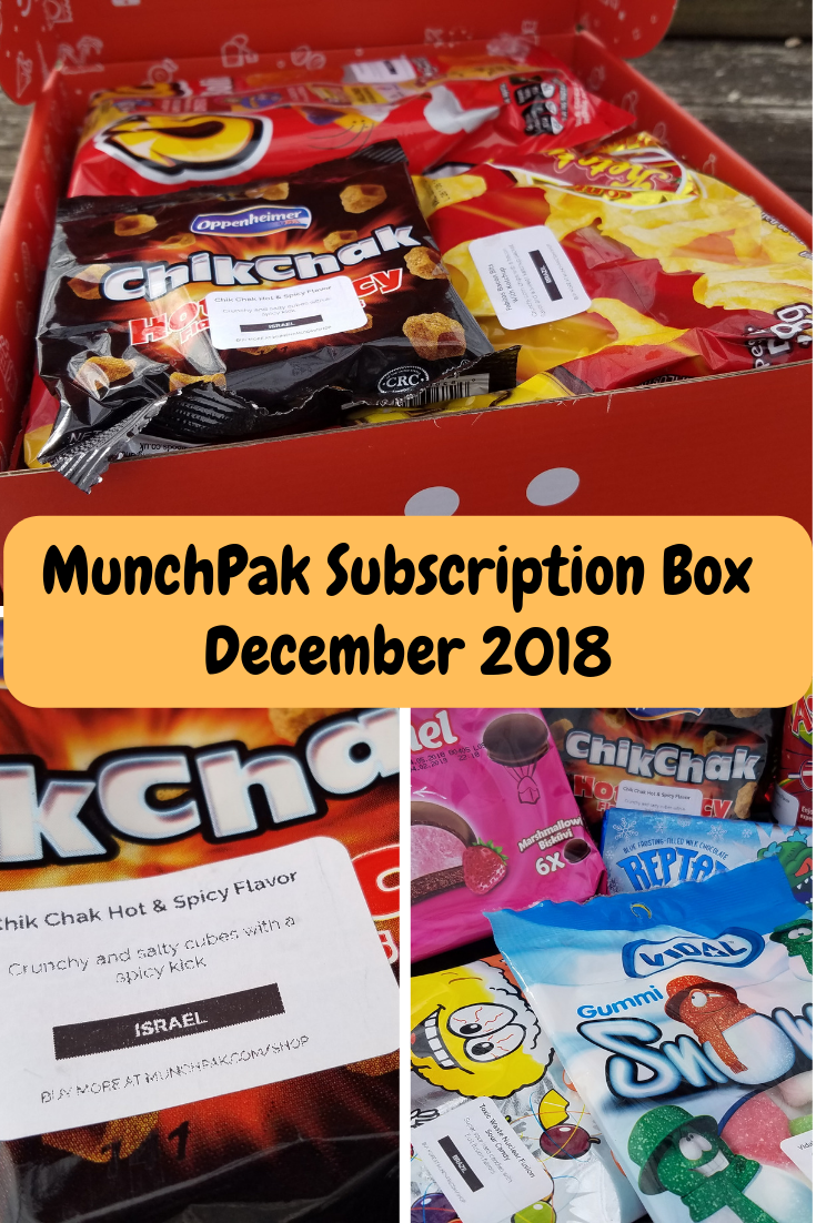 MunchPak Monthly Subscription box is a fun box that is filled with a wide variety of snacks from all over the world. It is great for families or given as a gift.