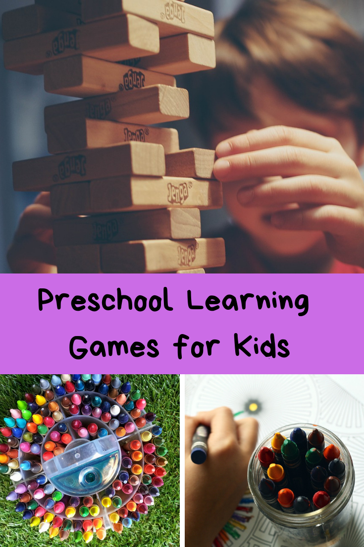 Before my girls started Kindergarten they loved playing games with their siblings and little friends. Playing games taught my girls a lot of the skills they need to know before starting Kindergarten. Here are some of my favorite Preschool Learning Games for Kids.