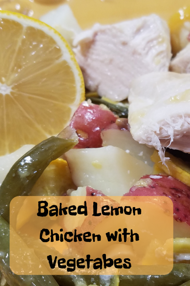 This Baked Lemon Chicken with Vegetables is a simple & delicious recipe that is great for busy families. The lemon chicken is perfect and kids love it.