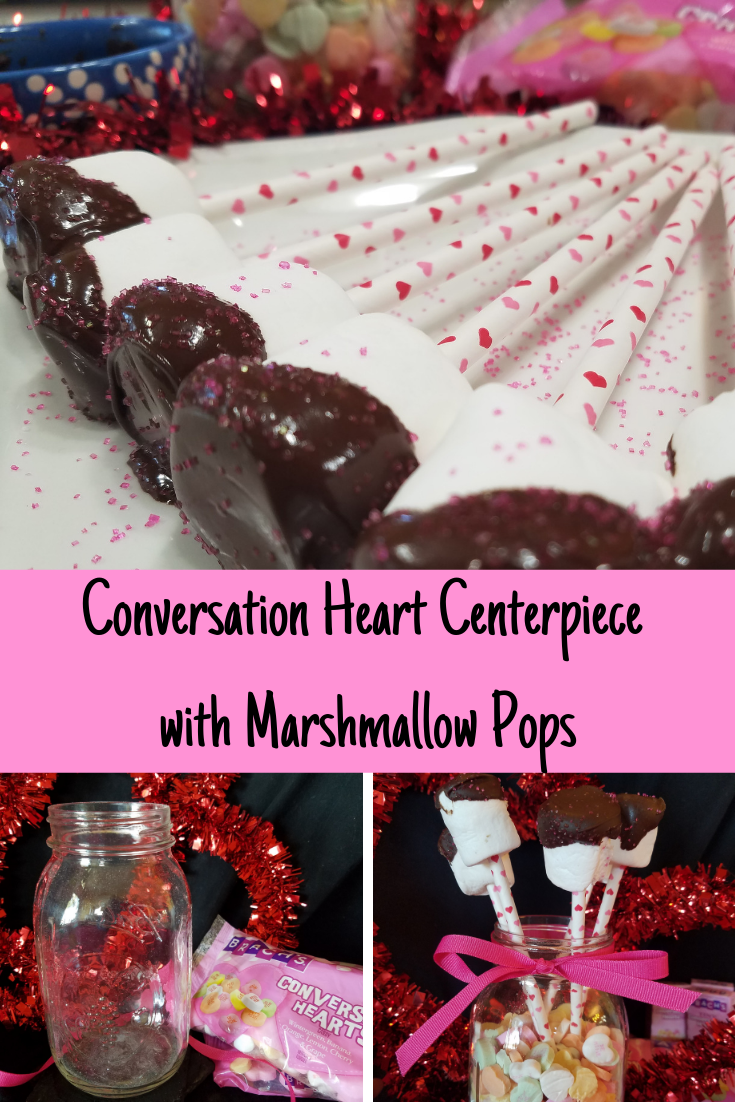 If you are planning on having a Valentine's Day party these Conversation Heart Mason Jars with Chocolate Covered Marshmallows is perfect. They are easy to make, very sweet and good to eat.