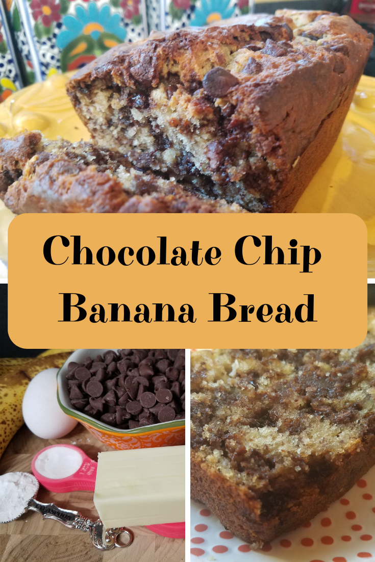 This Chocolate Chip Banana Bread is an easy recipe that is perfect for when you have bananas that are ready to toss.