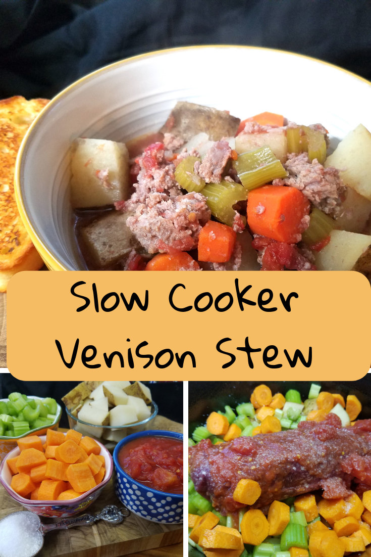 Our freezer is stocked full of venison so I am always trying and creating new recipes that include venison. Here is a simple to make and delicious slow cooker venison stew recipe.