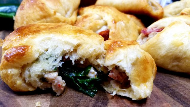 The perfect appetizers for game day or any get together. These pizza pockets are filled with amazing ingredients and can be altered in many different ways.