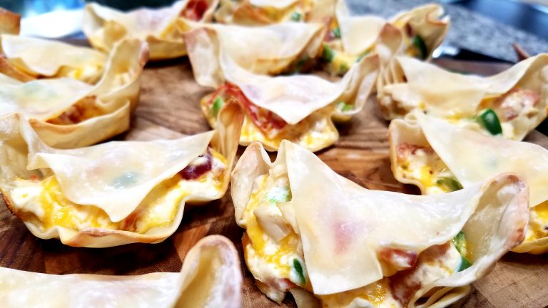 Three Meat Wonton Poppers are an easy recipe that is perfect for kids and grown ups of all ages. The cheese, meat, and vegetable pieces are perfect together.