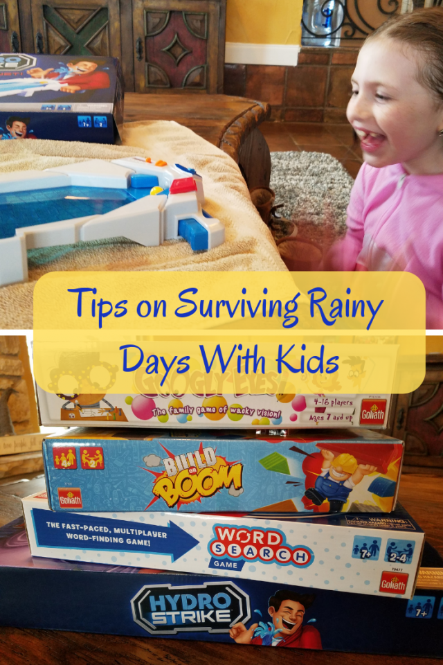 As a mom, I like to keep my kids entertained and active and even though rainy days can put everyone in a tired and lazy mood, I have discovered a few tips on surviving rainy days with kids.
