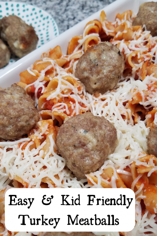 This is the perfect recipe for kids to help with. The steps are simple and take very little time. In addition, since these meatballs are made with turkey, there are a lot of healthier benefits versus if made with beef.