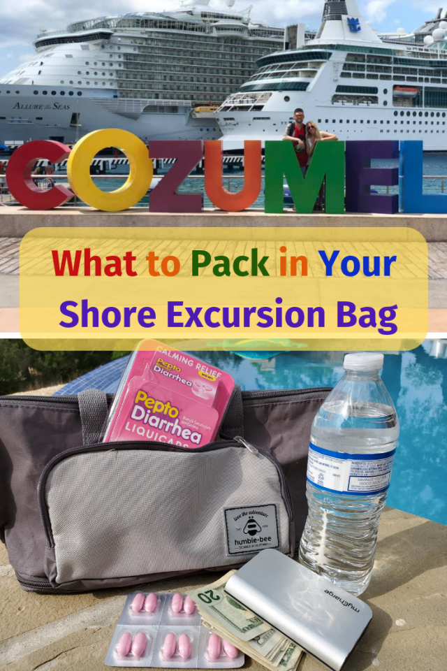 One of my families favorite parts of a cruise are the shore excursions. As much as we love to spend time on the ship, the time spent off of the ship is just as amazing, but before we leave the ship to go on our shore excursion, I make sure to pack an easy to carry and lightweight bag with essentials that I know my family will need.