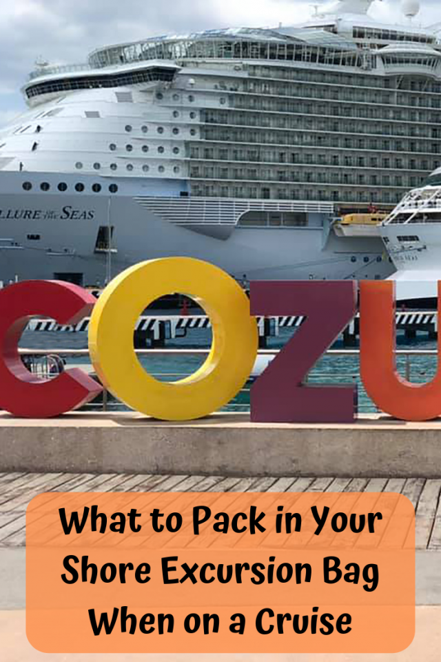 It is important to know What to Pack in Your Shore Excursion Bag When You Are on a Cruise. You don't want to overpack and you don't want to under pack.