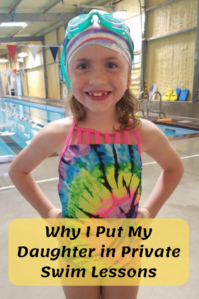 Since summer is right around the corner, I want to share with you why I put my daughter in private swim lessons.