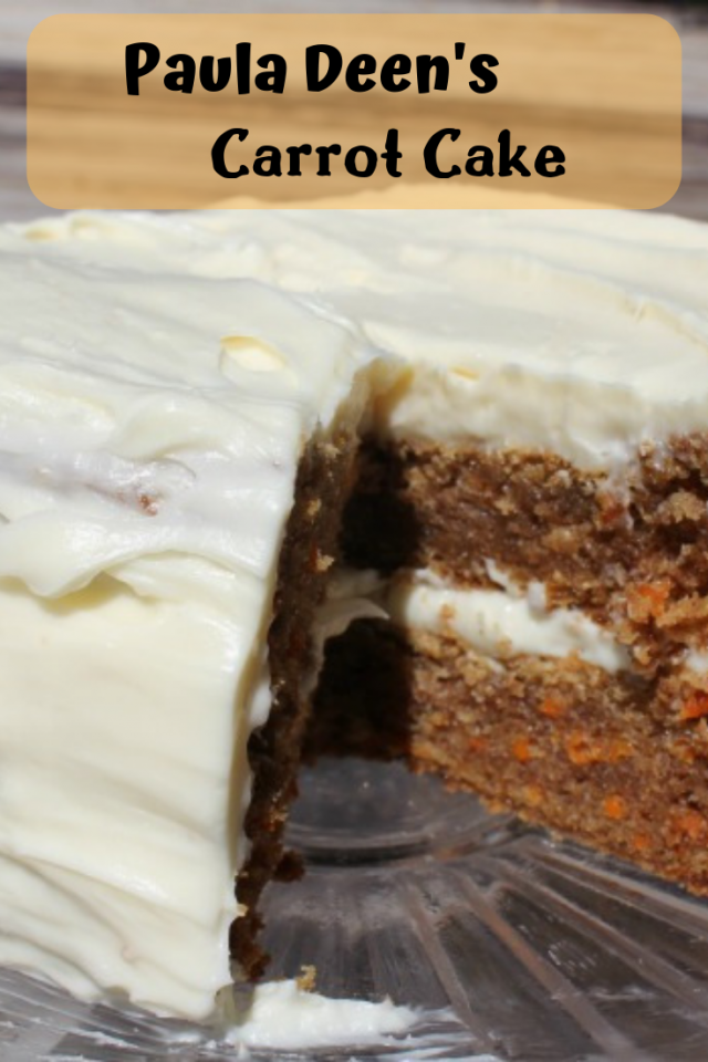 I have to first say that this Carrot Cake will not make you skinny, but you will love every bite of it! This cake is truly amazing and each bite melts in your mouth