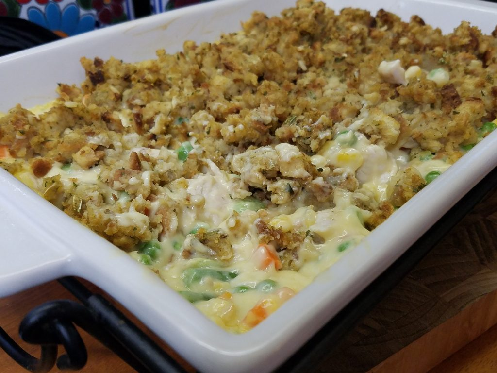 Chicken Vegetable Casserole With Stuffing - House of Faucis