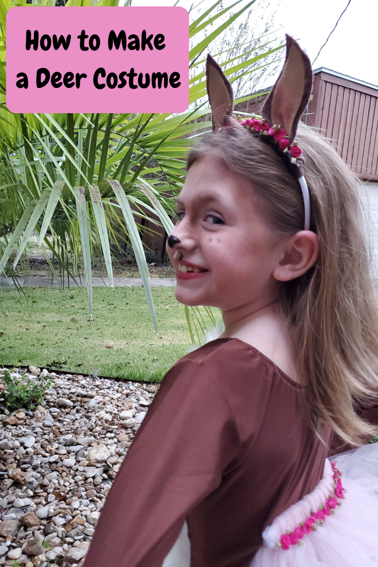 This DIY deer costume is easy to make and is perfect for Halloween or / and Storybook Character Day.