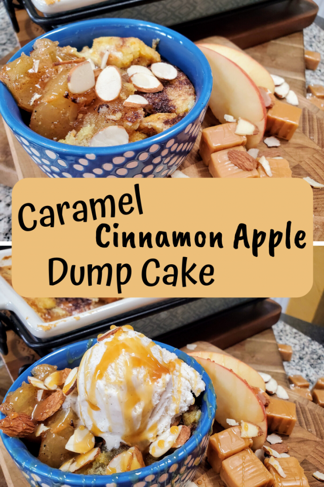 This Caramel Cinnamon Apple Dump Cake Recipe is one of the easiest desserts I have made in a long time. It uses very few ingredients. In addition, my entire family loves it.