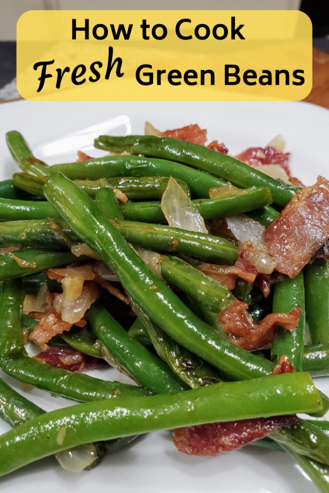Fresh Green Beans are very easy to make. They are much healthier and taste much better than green beans in a can.