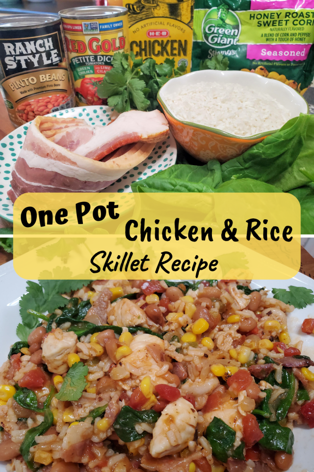 This One Pot Salsa Chicken Rice Skillet Recipe is an easy & healthy recipe that you can make for your entire family. It tastes delicious & is full of color.