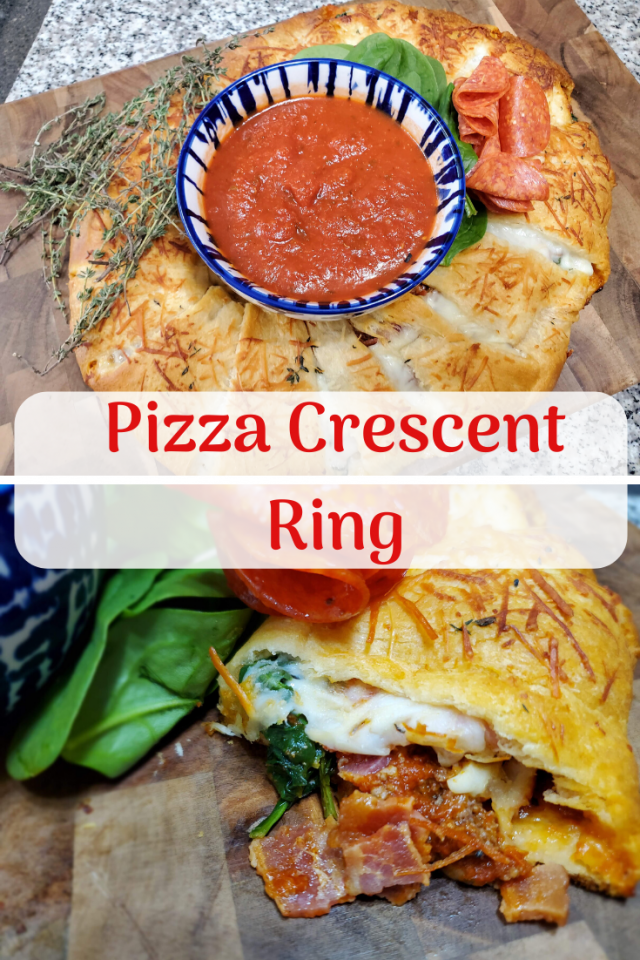 A new spin on pizza that the entire family will love. This Pizza Crescent Ring can be altered to please all tastebuds.