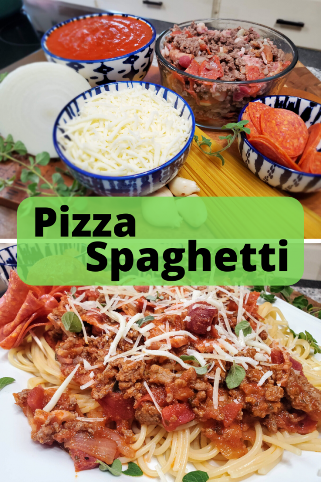 If your kids love pizza, then they will love this Pizza Spaghetti Recipe. It is filled with all of your favorite pizza toppings.