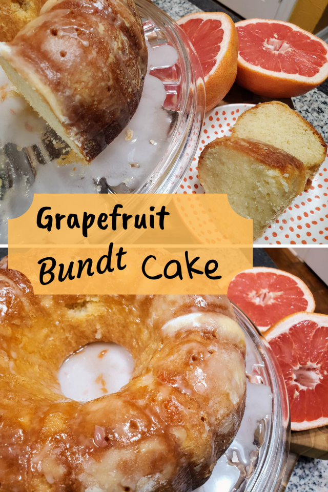 Since I have never been a fan of grapefruit I decided to incorporate the fruit into a dessert that my family would enjoy. Grapefruit Bundt Cake is amazing.