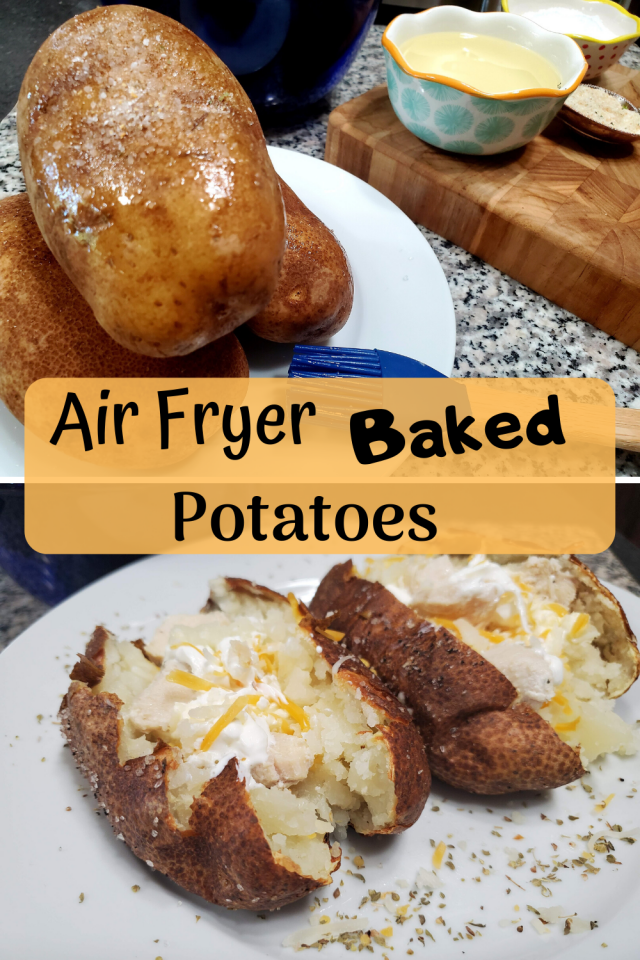 Here is the recipe for air fryer baked potatoes. These are very easy to make.