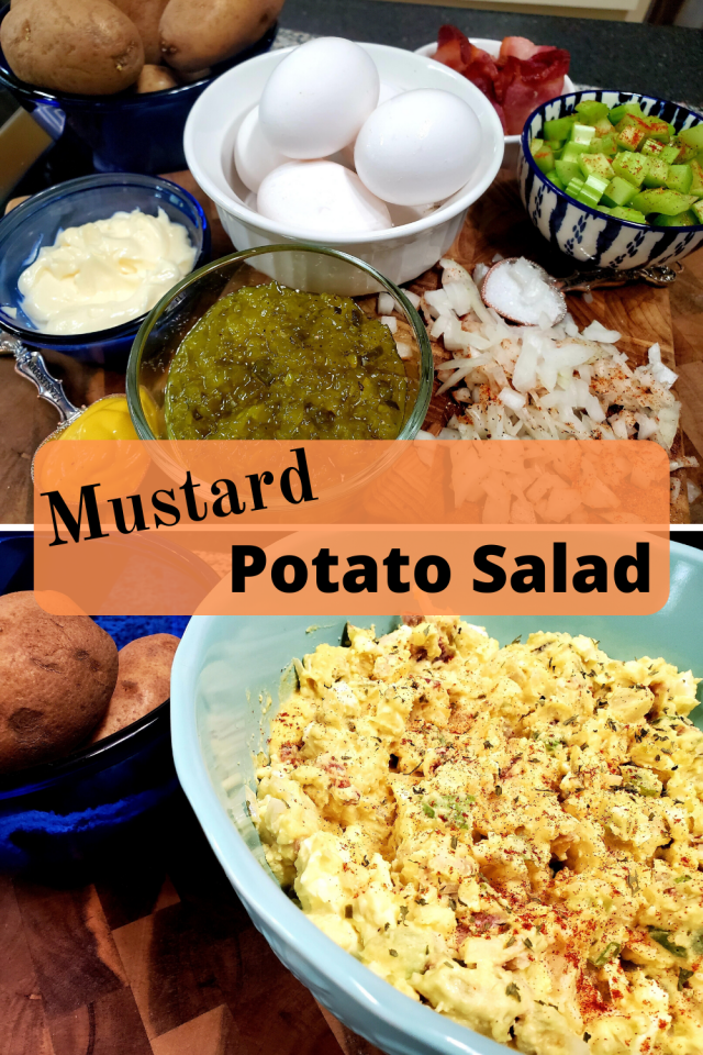 My favorite potato salad to serve with my summer holiday meals is Southern Mustard Potato Salad.It goes perfectly with hamburgers, hotdogs, and barbecue.