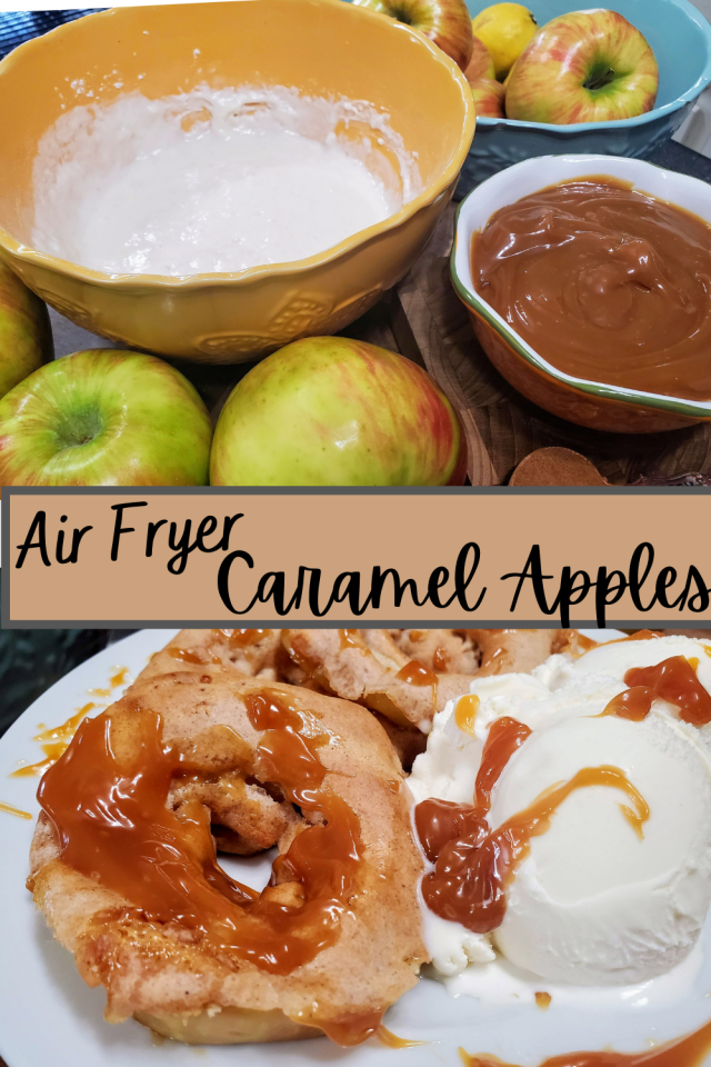 Air Fryer Caramel Apples are easy to make and the perfect snack for all ages.