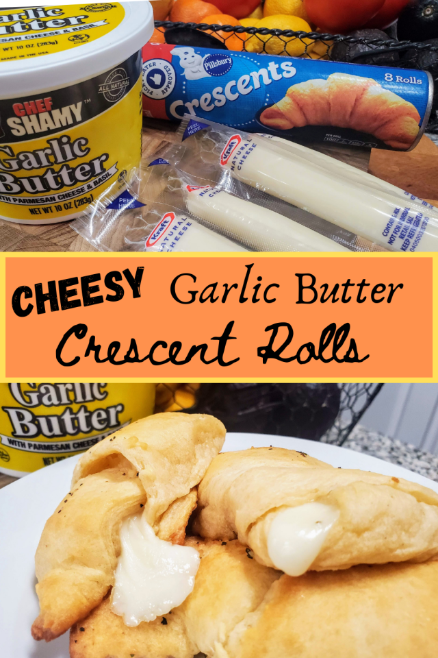Cheesy Garlic Butter Crescent Rolls are the perfect addition to any meal or eaten alone. The combination of garlic & cheese is amazing.