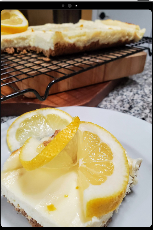 I had an overabundance of lemons so I knew I needed to make something amazing. Lemon Cheesecake Bars is what I made & they are fabulous.