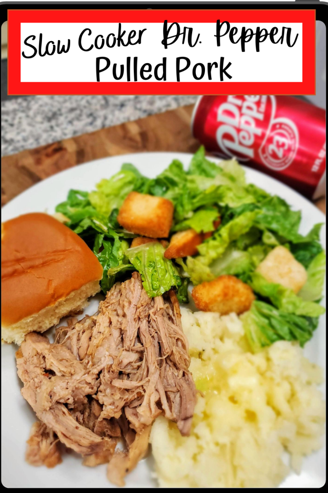 Since my Big Red Pulled Pork was such a hit with my family, I decided that I would make them Slow Cooker Dr. Pepper Pulled Pork. This is super simple to make and a recipe that is perfect for busy families.