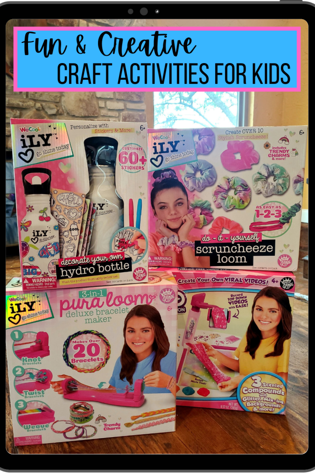 If you want Fun and Creative Craft Activities for Kids the take a look at these art and craft kits from WeCool toys.