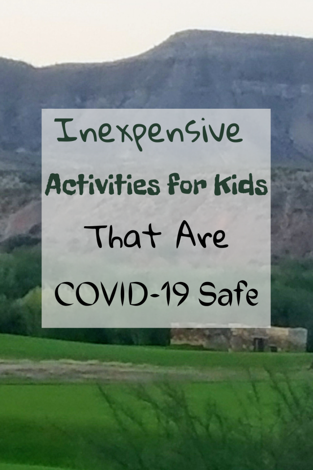 Since COVID-19 has not gone away, I wanted to share with you some inexpensive fun activities for kids that are COVID-19 safe.